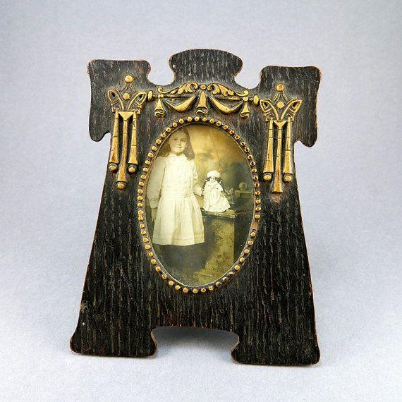 Antique Picture Frame Home Decor Art Nouveau Frame Carved Wood Frame Old Photo Frame Edwardian Antiques Collectibles