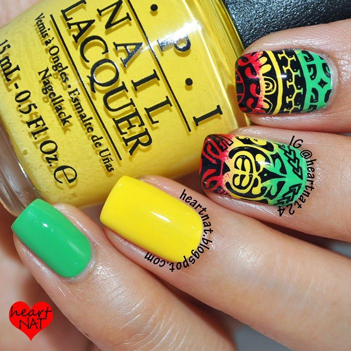 heartnat: Polynesian Tribal Tattoo Nail Art: MoYou London Explorer 15 XL and MoYou London Explorer 19