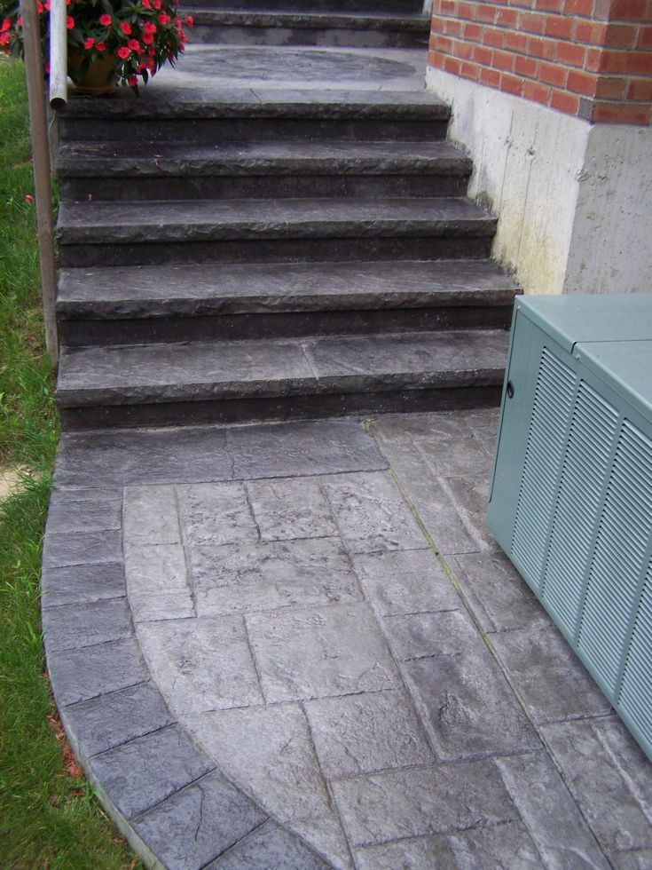 how to fix concrete stairs