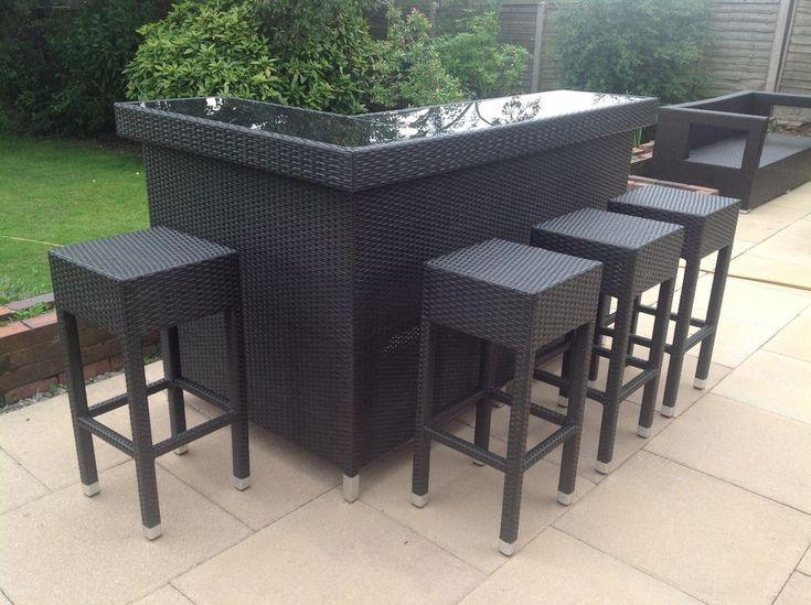 Stylish Rattan Outdoor Bar Counter   eBay   Outdoor garden ...