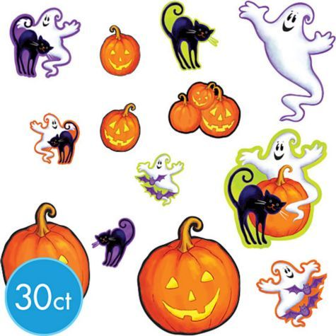halloween cute characters cutouts mega value pack is a family friendly decoration these fun halloween cutouts are perfect for a halloween party