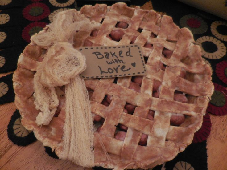 The perfect faux cherry pie to display in your Pri…