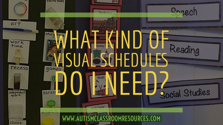 What Kind of Visual Schedule Do I Need?