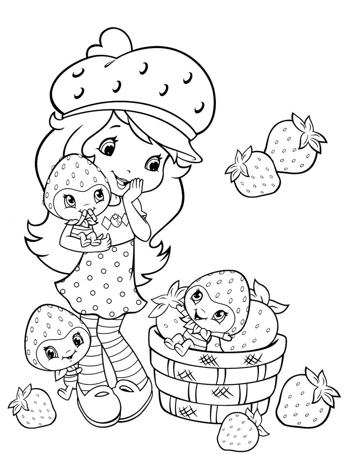 christmas strawberry shortcake coloring pages - photo#42