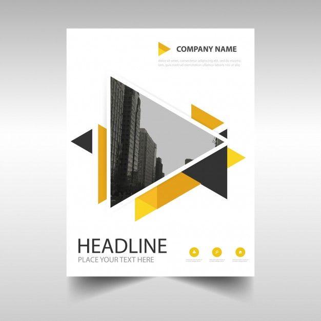 amarelo modelo capa do livro relatório anual criativo Vetor grátis