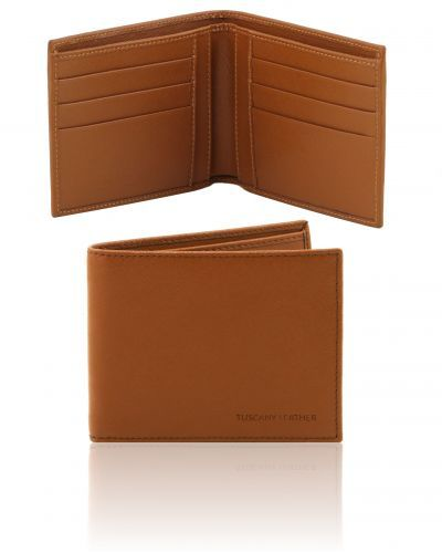 TL141492 Exclusive 2 fold Saffiano leather wallet for men