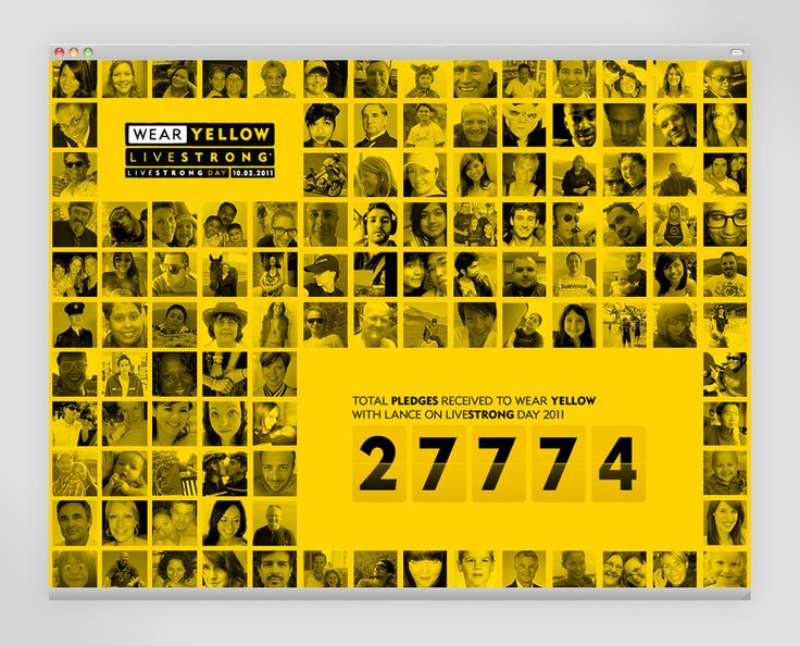 A bold and well thought-out website designed by Instrument studio for the 2011 LIVESTRONG Day