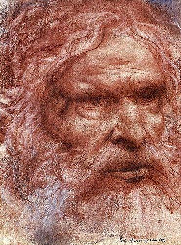 Annigoni, Pietro (1910-1988) - 1985c. Abraham (Private Collection)  #TuscanyAgriturismoGiratola