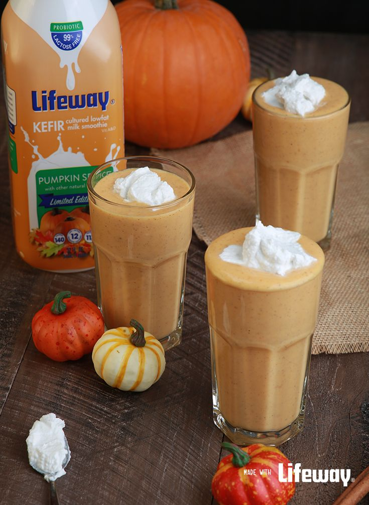 Our Pumpkin Pie Protein #Kefir Smoothie is great for after a workout, or before a long day at the pumpkin patch!