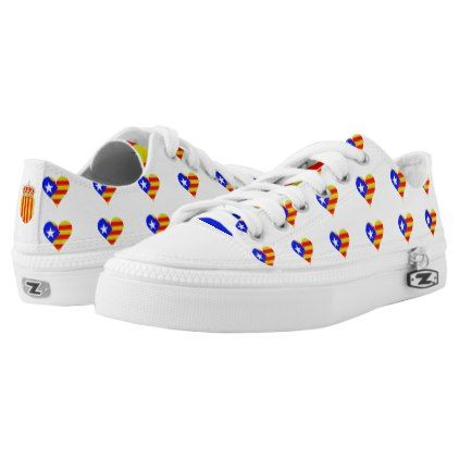 #Catalan flag Low-Top sneakers - #womens #shoes #womensshoes #custom #cool