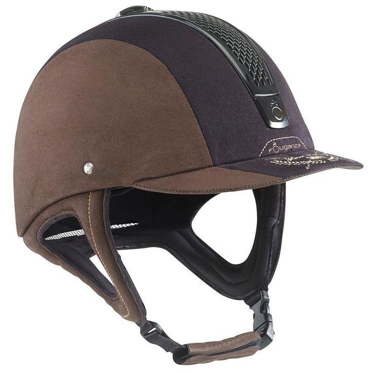 54,95 € - EQUITATION Equitation - Casque d'équitation C700 Jump marron/noir - FOUGANZA