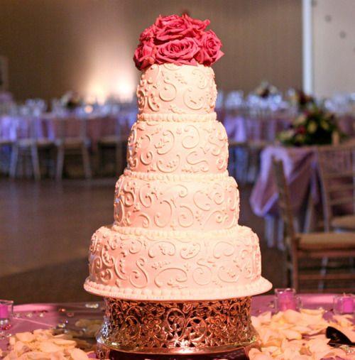 scroll cake design
