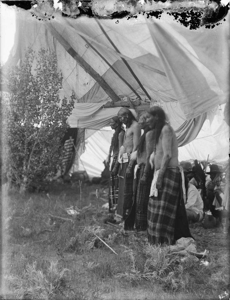Last of the Sun Dance. The Cheyenne Sun Dance being performed inside the Sun Dance Lodgе. Date Original: 1902-1933. Richard Throssel Collection, American Heritage Center, University of Wyoming.