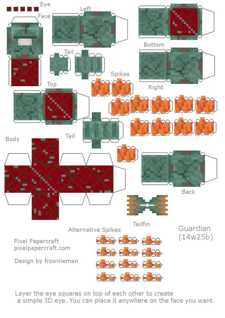 Minecraft Papercraft Crafting Table 7 X 7