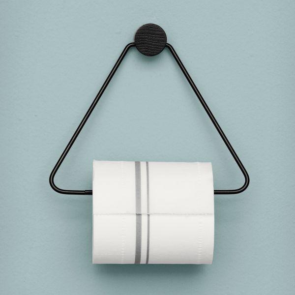 Toilet Paper Holder, Black, By Ferm Living.