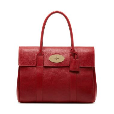 Mulberry - Bayswater in Poppy Red Natural Leather
