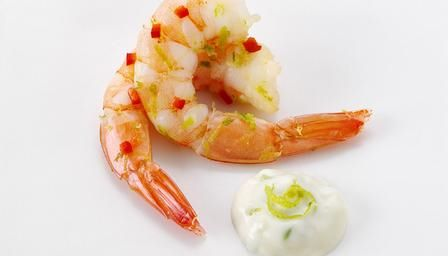 Chilli and lime prawns - a very popular canapé!