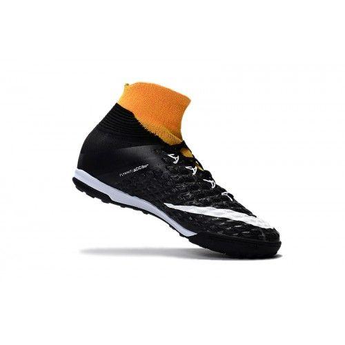 Baratas 2017 Nike Hypervenom Phantom III DF TF Hombre Negro Naranja Zapatos De Futbol