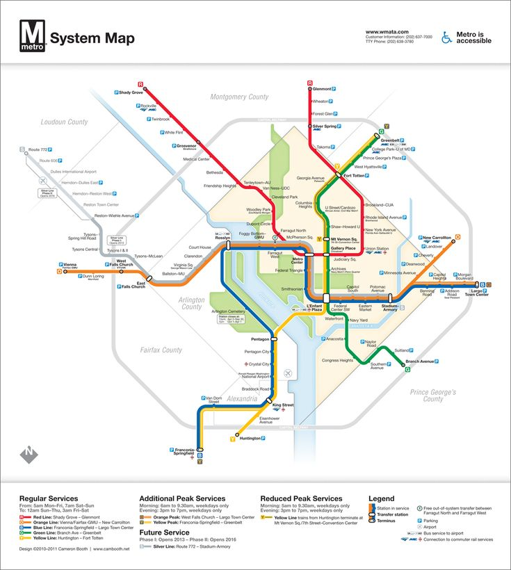Washington, DC Metro Diagram: Version 3