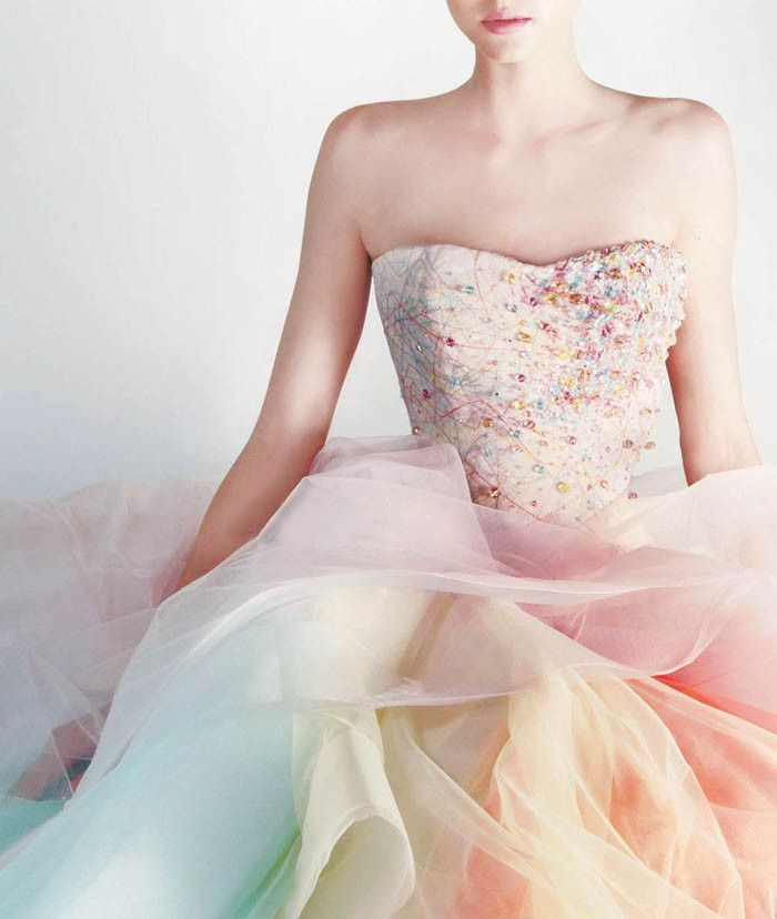 Best 25 rainbow dresses ideas on pinterest pastel for Pastel colored wedding dresses