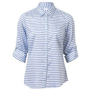Cotton Boyfriend Shirt - Blue Stripe – Target Australia