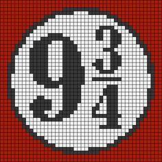 Hogwarts Express Train Platform - Harry Potter perler bead pattern to use for crochet pixel blanket.