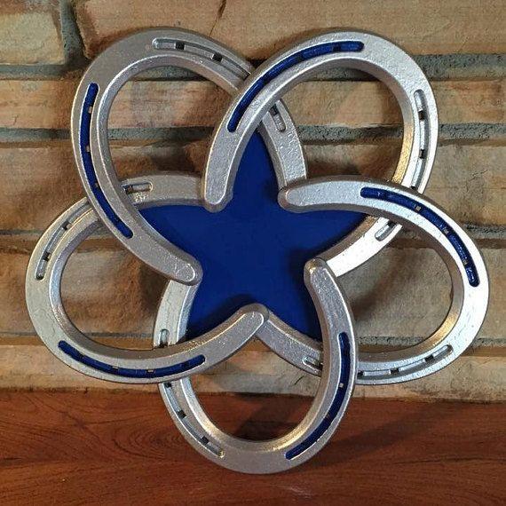 Horseshoe star by steelkickin on etsy horseshoes for Horseshoe project ideas