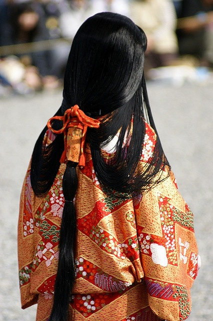 Jidai Festival in Kyoto, Japan - Suihatsu Taregami Hairstyle of Daimyo Princess, Momoyama period