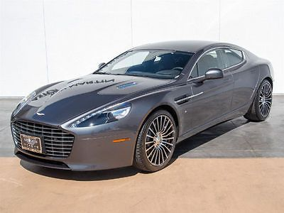 2016 Aston Martin Rapide Rear Seat Entertainment 2016 Aston Martin Rapide S Rear Seat Entertainment 28 Miles Meteorite Silve Seda