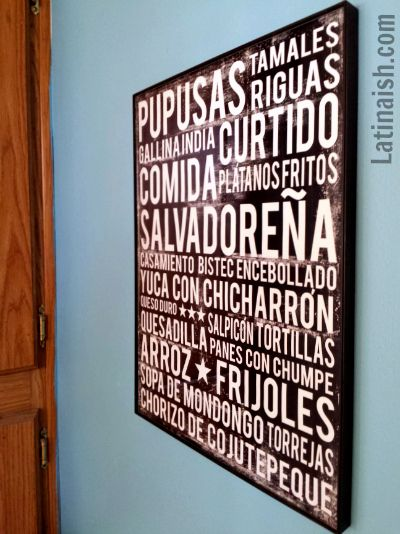 How much do you love this COMIDA SALVADOREÑA poster?