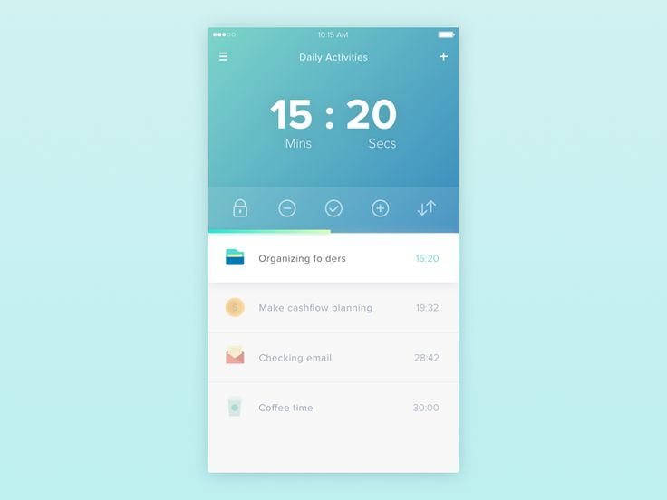 Time tracking app by Thomas Budiman