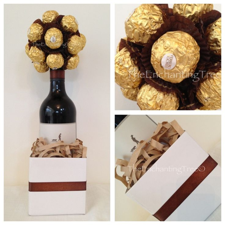 Fathers Day:  Red or white wine with Ferrero Rocher.  $40