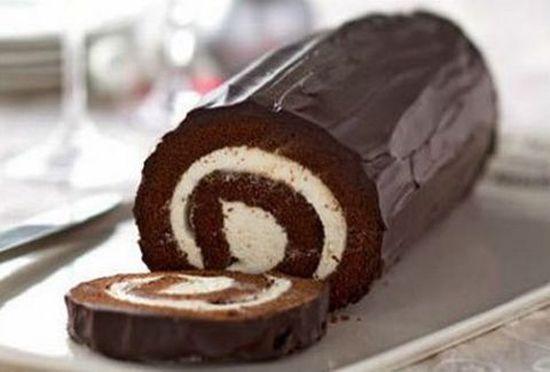 Αφράτο και γλυκό ρολό. Υλικά Για το ρολό κέικ 1/4 φλιτζάνι αλεύρι για όλες τις…