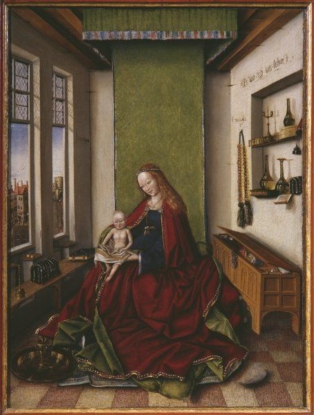 Virgin and Child with a book - Jan van Eyck 1433