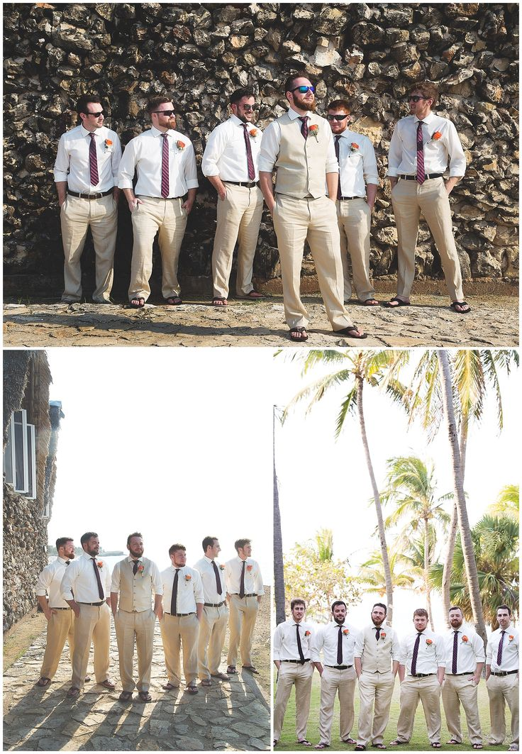 Cuba wedding photography - groomsmen wedding photos - Varadero wedding photography