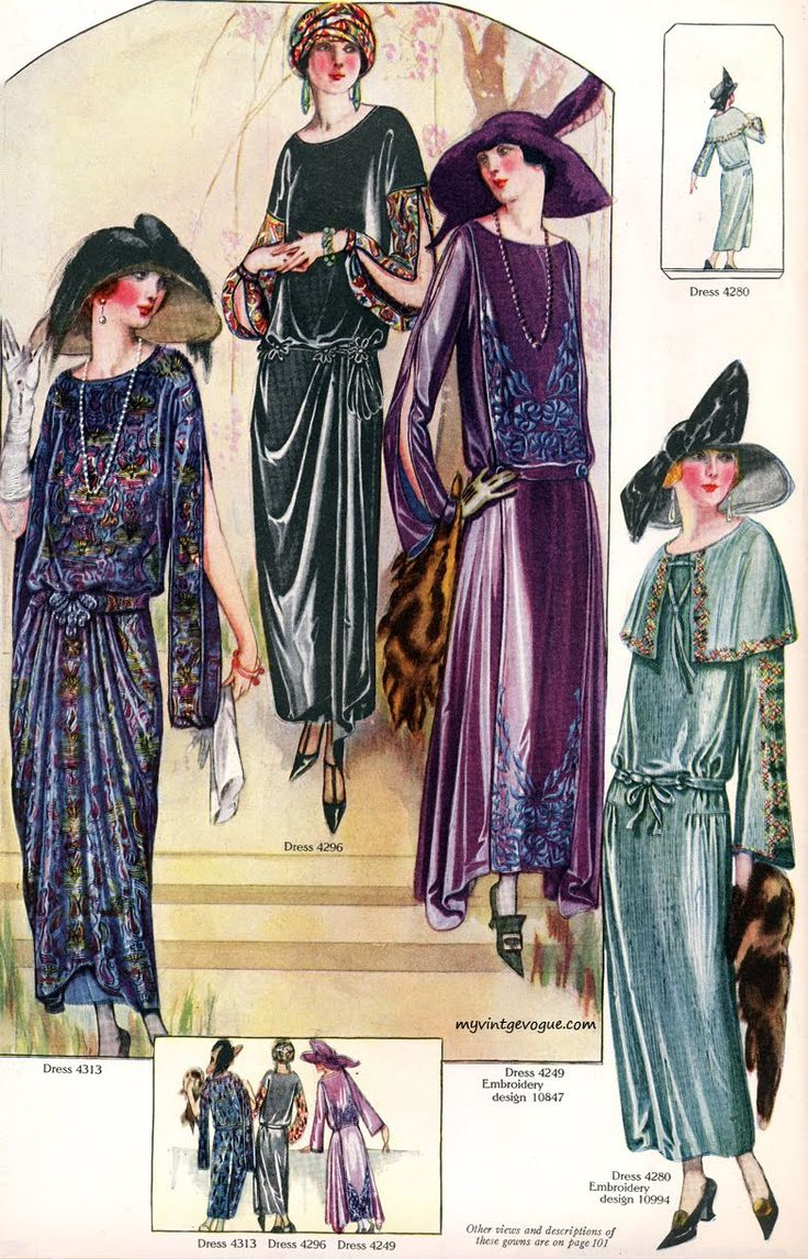 The Delineator Magazine, 1923 Beautiful Wintery Frocks!