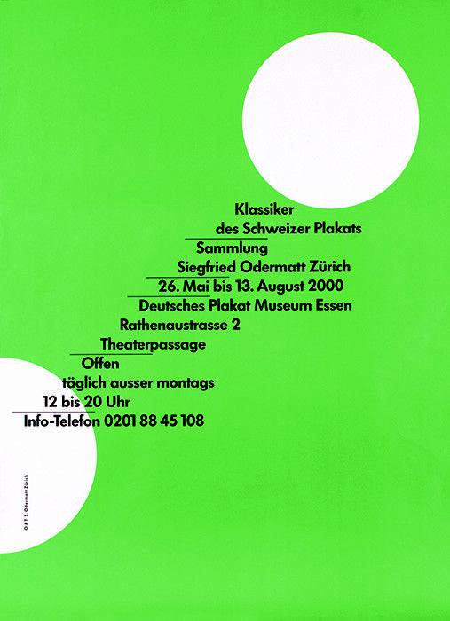 Siegfried Odermatt, Klassiker des Schweizer plakats, 2000