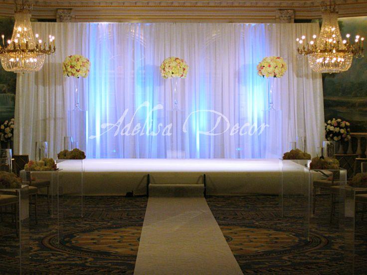 Elegant Drapery At Indoor Ceremony: 27 Best Wedding Ceremony Drapes