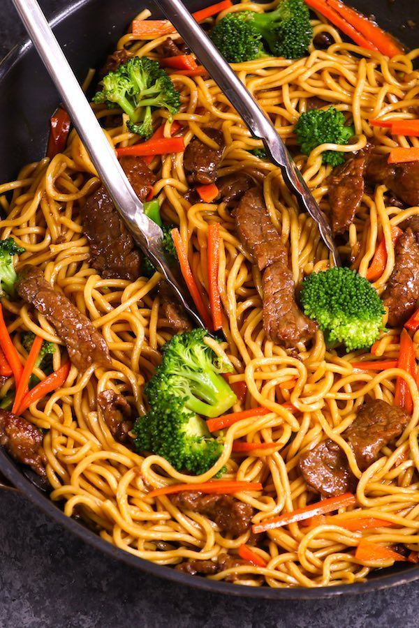 Garlic Beef Lo Mein In A Skillet Quick In 2021 Beef Lo Mein Recipe Lo Mein Recipes Garlic Beef