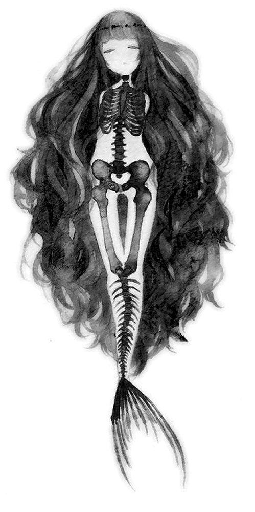 mermaid skeleton ideas