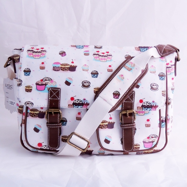 White cupcake print satchel £21.95 x