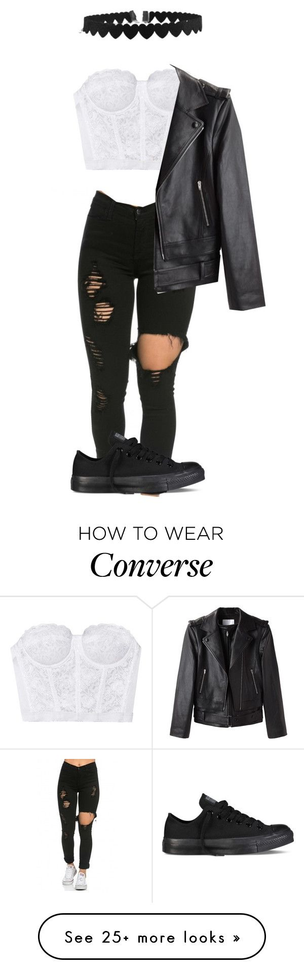 """/I'm scared to get close, and I hate being alone"" by punk-rock-dreamer on Polyvore featuring Alexander Wang and Converse"