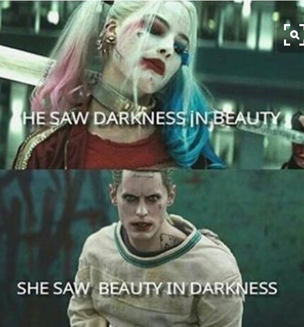 Harley Quinn & The Joker don't know where to put it.. ain't funny, just ... Love♡