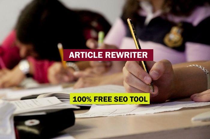 Article rewriter service paraphrasing tool