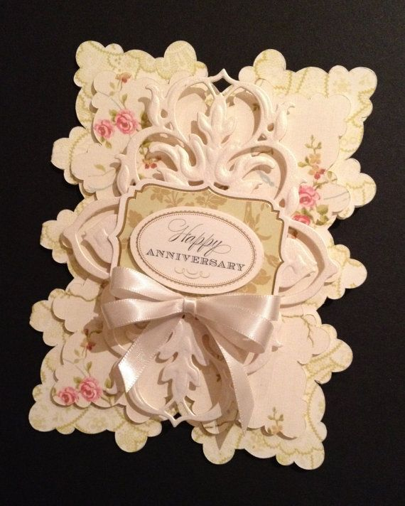 This elegant anniversary card is just so sweet, and so special - a real statement card! I am completely smitten with the gorgeous scalloped