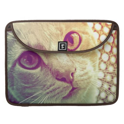 A beautiful close-up cat portrait, especially for cat lovers! Love and Devotion MacBook Pro Sleeve, by FOMAdesign