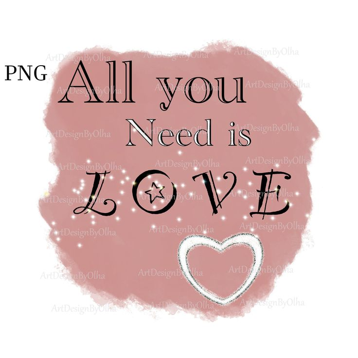 Download All You Need Is Love PNG Sublimation T-shirt Design ...