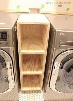 Etonnant Laundry Room Cabinet Between Washer And Dryer Storage Shelves Ideas (7  Laundry Room Decor Small