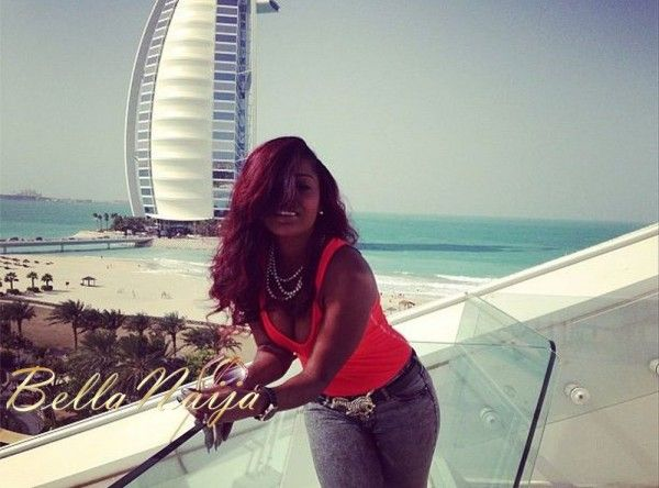 Annie Idibia in Dubai... Weeks before her wedding to Tuface