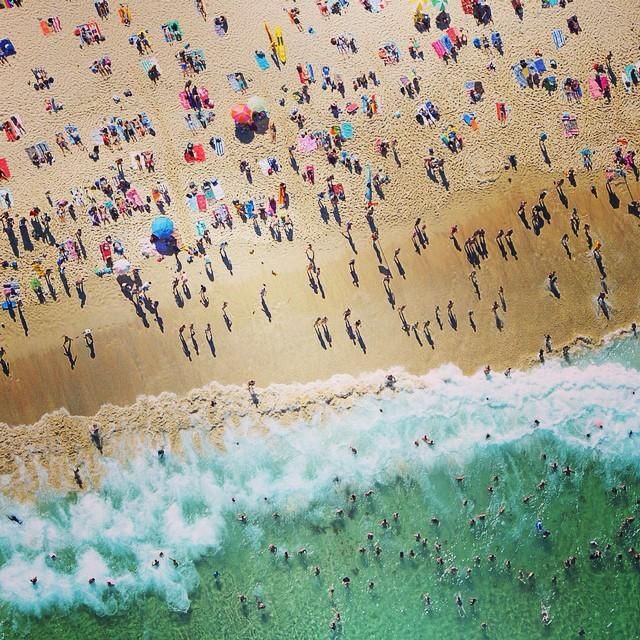 Birds-eye view! @JimMorganPhoto took this shot while flying 500 feet above Bondi Beach over the weekend. (via IG)